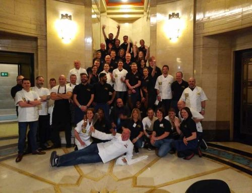 Industry leaders went back to the floor to support charity Only a Pavement Way (OAPA), preparing and serving lunch to 255 guests at the Freemasons' Hall in Covent Garden, London.